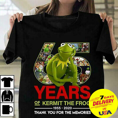 162667617153 65 Years Of Kermit The Frog Thank You For The Memories Men T-shirt Cotton