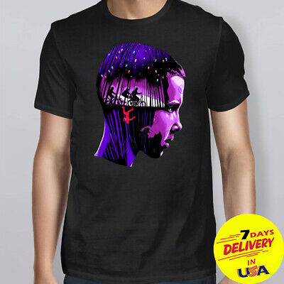 Head Eleven Stranger Things Character Black Cotton T-shirt Full Size S-2XL
