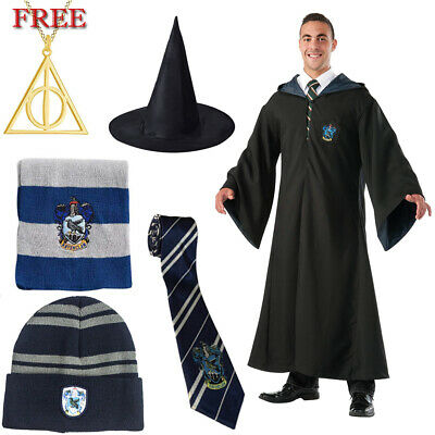 Harry Potter Robe Cosplay Robe Ravenclaw Robe & Scarf Tie Cloak Cape Wizard Hat