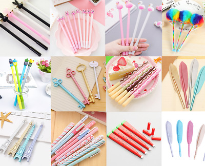 13Styles Cute Gel Pen Ballpoint Stationery Writing Tool Student School Office