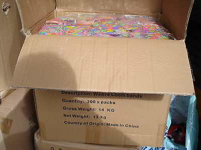 Wholesale Job Lot 300 Packs Of Loom Bands Liquidated Bankrupt Clearance Stock