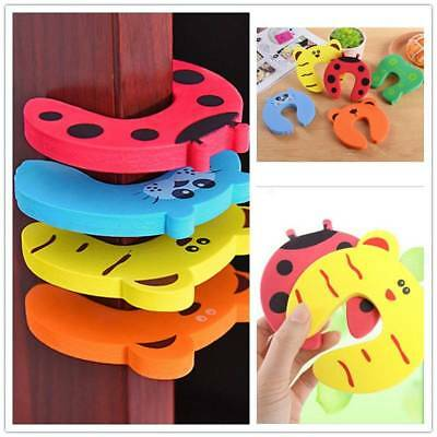 6Pcs Children Baby Safety Cartoon Door Stopper Clips Clamp Pinch Hand Security