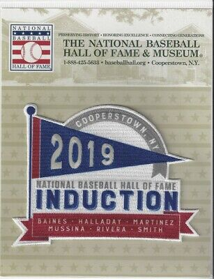 2019 Hall of Fame Induction Patch Rivera Mussina Halladay Baines Martinez Smith