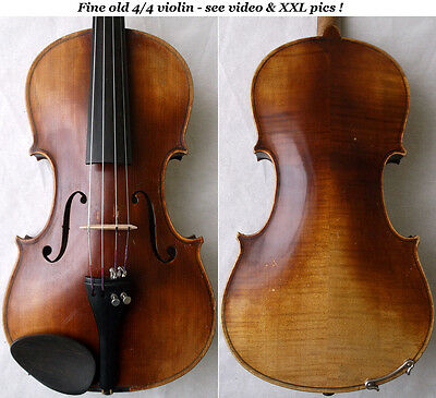 FINE OLD GERMAN VIOLIN see VIDEO - ANTIQUE VIOLON バイオリン violino скрипка 小提琴 379