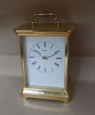 Brass Case 8 day Mantel Clock Fully Working 2975