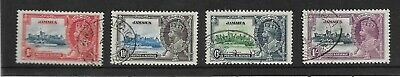 Jamaica King George V 1935 Silver Jubilee Sg 114-117 Fine Used   My Ref 306