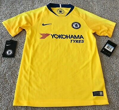1eed82a7e Nike Chelsea FC 2018/19 Away Socccer Jersey 919251-720 Youth Medium Yellow  $75