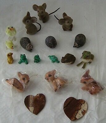 Very Small Animal Figures 17 Mouse Hedgehog Frog Fawn Chick Collection