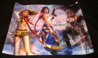 PlayStation 2 Final Fantasy X-2 POSTER! Rare 2003 Square Enix 22x28