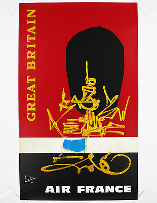 AIR FRANCE - GREAT BRITAIN, Original Travel Poster, 1968 Georges Mathieu