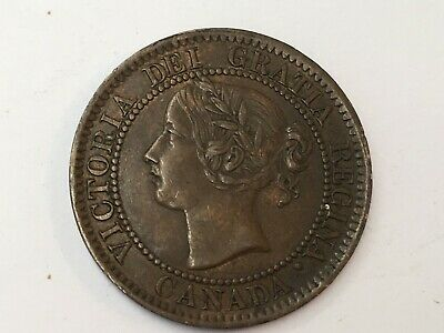 1859 Canada One Cent Coin Good Condition