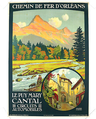 LE PUY MARY – CANTAL, affiche ancienne originale, Constant Duval, 1921