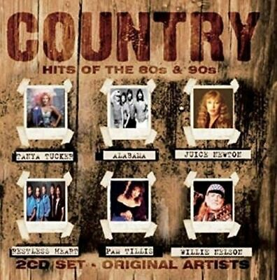 Country Hits of the 80's & 90's by Various Artists (CD, Jan-2016, 2 Discs,...