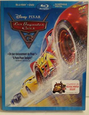 Cars 3 ( Blu Ray / DVD , 2017 ) French Cover