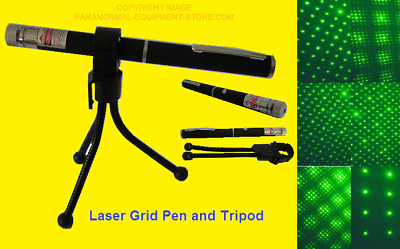 Laser Grid Pen with Tripod Holder ~ Ghost Hunting ~ Paranormal Equipment