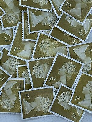 100(5) 1st Class (First) MXD Unfranked Stamps Off Paper NoGum Security CHEAPEST!