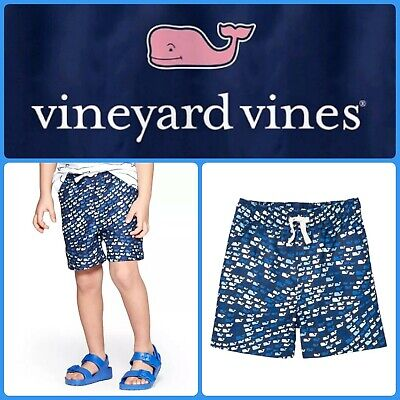 e9f457adfc VINEYARD VINES School of Whales Blue Toddler Boys 5T Swim Trunk Shorts  Target 🐳