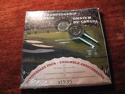 Canada 2004 Golf Open Championship Ten Cent Rare Coin Rcm Set Only 39486 Minted