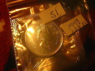 1999 Canada Proof Like Rare Caribou 25 Cent Coin ID#S1.