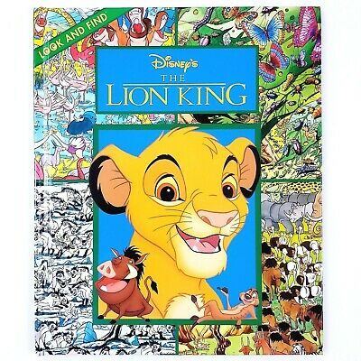 New Walt Disney Lion King Look And Find Simba And Friends Storybook
