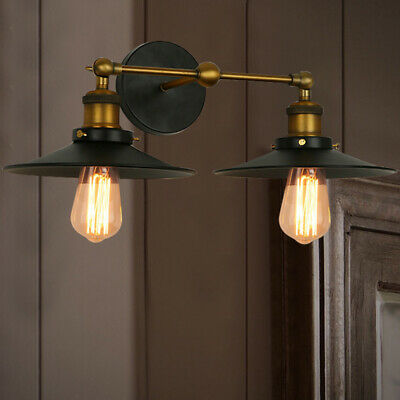 Industrial Wall Sconce Antique Barn Wall Lamp Indoor Lighting with Cone Shade