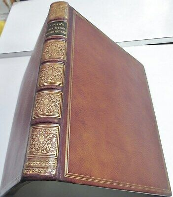 PRINCIPLE REVIVAL CHRISTIAN ARCHITECTURE IN ENGLAND/1843/RARE 1st Ed./FINE LEATH