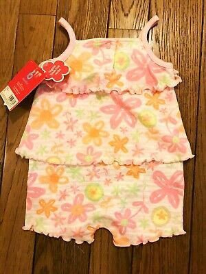 NWT 1 Piece Baby Girl Carter Sun Suit (Pinks, oranges and green) Size 6 months