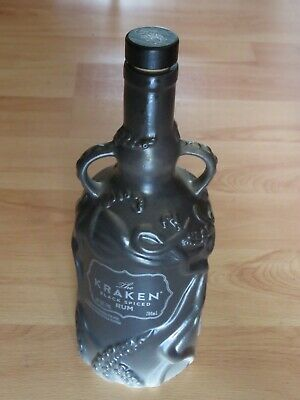 EMPTY Wade Ceramic KRAKEN RUM Bottle 2018 Limited Edition Black Grey