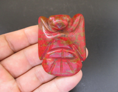 Old China,Hongshan Culture,Red Turquoise,Jade,eagle,amulet,pendant Y6913