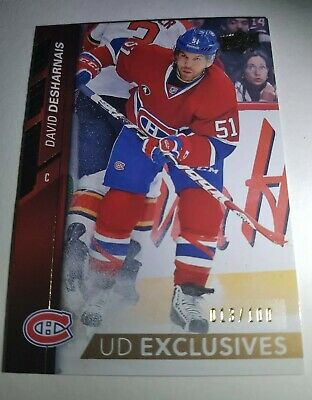 DAVID DESHARNAIS 013/100 UD EXCLUSIVES 2015-16 Upper Deck Series One Card #97