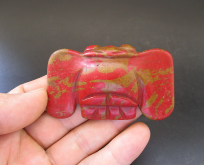 Old China,Hongshan Culture,Red Turquoise,Jade,eagle,amulet,pendant Y6920