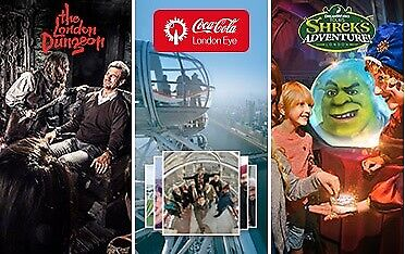 2x SHREK'S ADVENTURE! LONDON or THE LONDON DUNGEON TICKETS - PICK YOUR OWN DATE