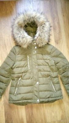 1fc89f0d6 NORDSTROM TOPSHOP FAUX Fur Lined Quilted Puffer Jacket PARKA WINTER ...