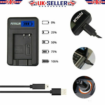 Ex-Pro Camera Battery+USB LED DMW-BCF10 DMW-BCF10E Charger for P@ L@