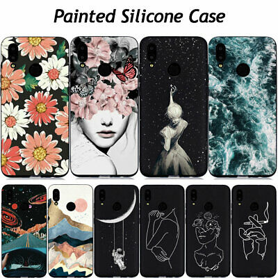 For Huawei P Smart 2019/Mate 20 Lite Painted Case Slim Silicone Gel Phone Cover