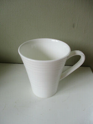 Royal Doulton's Fusion Embossed Mug White 1st quality 3.75 inches
