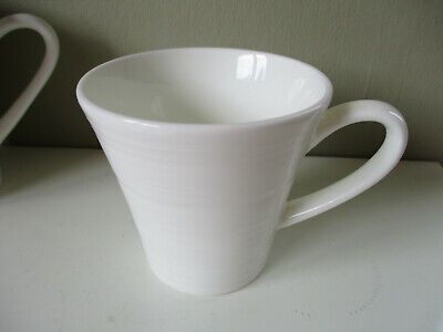 Royal Doulton's Fusion Embossed Mug Cup White 1st quality 3 inches