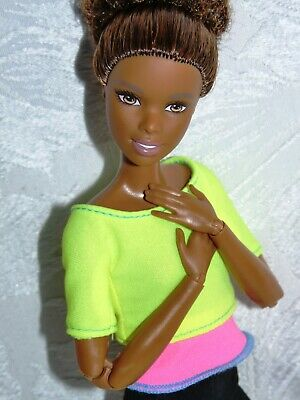 Barbie Made To Move Nikki Yellow Top Doll - The Ultimate Pose-Able Barbie Doll