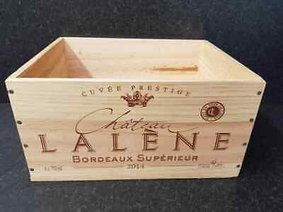 Traditional French Wooden Wine Box crate - Laylene Bordeaux