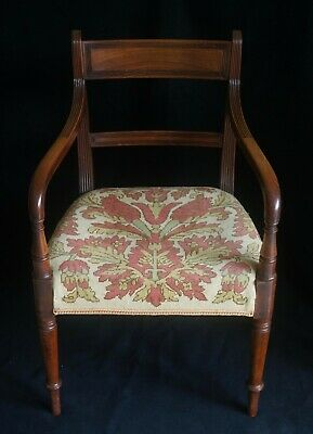 Regency elbow chair superb condition, Mahogany 1810, matching pair available