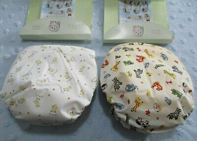 2 Vintage Kushies All in One Nappies Diapers Ducks & Animal Print