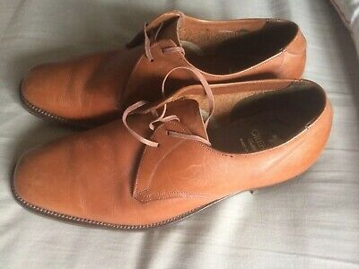 Grenson Uk Size 6.5 Mens  Brown Leather Oxford Shoes Lace Ups