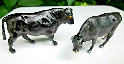 Britains Herald Farm Animals - Welsh Black Bull And Cow