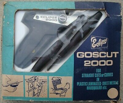 GOSCUT 2000 STEEL / PLASTIC & LAMINATES CUTTER IN GOOD USED CONDITION ~ 1970's