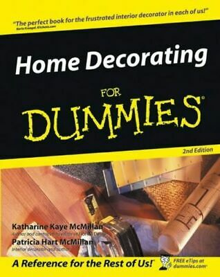 Home Decorating For Dummies Mcmillan Patricia Paperback / Softback NEW