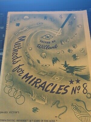Vintage Methods for Miracles No.8 Edited by Willane Edward Victors England Publ