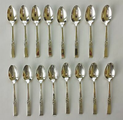 1948 antique COMMUNITY MORNING STAR SILVERPLATE FLATWARE 16pc TEA SPOONS