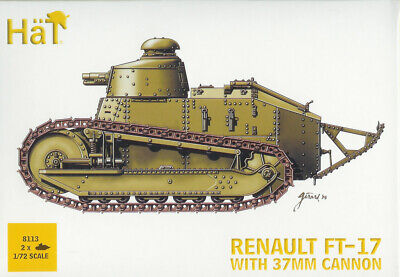 HAT 1/72 (20mm) Renault FT-17 37mm  (2 Kits in Box)