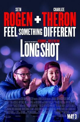 Long Shot - original DS movie poster - 27x40 D/S 2019  Theron FINAL