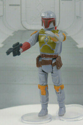 "VINTAGE Star Wars BOBA FETT 3 3/4"" Action Figure 1979 ESB w/Weapon Hong Kong"
